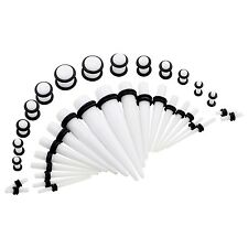 Acrylic Ear Gauge Taper and Plug Starter Stretching Kit- 36pcs Set New Jewelry