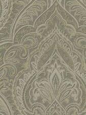 Wallpaper Designer Large Gray Taupe Paisley Damask