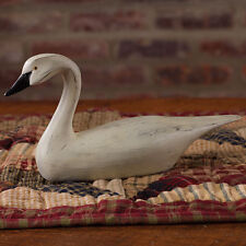 Primitive country style resin swan carved wood look french home decor
