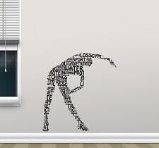 Fitness Wall Decal Words Cloud Girl Gym Vinyl Sticker Motivational Decor 156hor