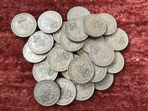 COLLECTION / BULK LOT OF 25 X 1948 CUPRO-NICKEL FLORIN COINS - REF 101