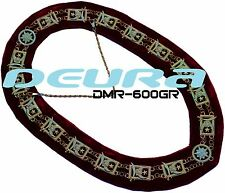 Masonic Regalia SHRINERS DRESS Metal Chain Collar RED Backing DMR-600GR