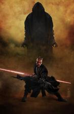 Star Wars Darth Maul, dark presence,  Original Art Print signed by Scott Harben