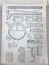 Royal Edward Docks Of Avonmouth, Bristol: 1908 Engineering Magazine Print
