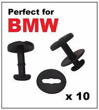10 x BMW Floor Carpet Mat Clips E36 E46 E38 E39 Series- Twist Lock with Washers