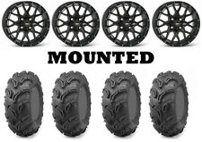 Kit 4 Maxxis Zilla Tires 27x10-14 on ITP Hurricane Matte Black Wheels IRS