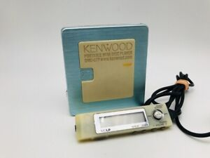 MD0893 Excellent  KENWOOD PORTABLE MD PLAYER DMC-Q77  Light Blue  w/Controller