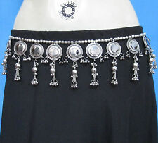 Mirror Coin Tassel Tribal Dancer Belly Dance BELT Kuchi Gypsy Costume Jewelry