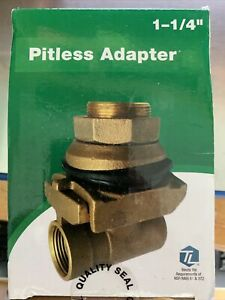 Pitless Adapter, Brass, 1-1/4-In.