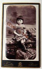 CDV PHOTO FONTES FAMILLE FAGOT GRANDHOMME MAURICE 4 ANS en 1885 ENFANT M573