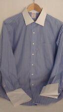 Brooks Brothers 1818 Men's Dress Shirt Long Sleeve No Iron Blue Striped 15 1/2