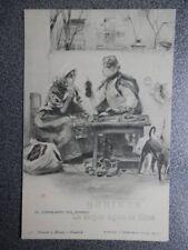 EL CONSEJERO DEL BARRIO HAUSER Y MENET 536 POSTAL 1905 PUBLICIDAD AGUA BORINES