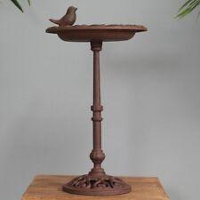 Fallen Fruits Cast Iron Free Standing Pedestal Bird Bath / Feeder