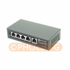 DSLRKIT 250M 5 Ports 4 PoE Switch Injector Power Over Ethernet NO Power Adapter