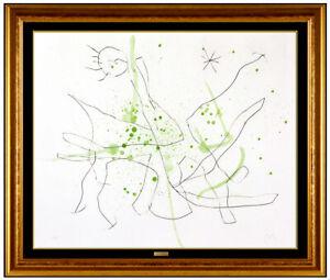 Joan Miro Original Etching Aquatint Hand Signed Abstract Flux L'Aimant Artwork