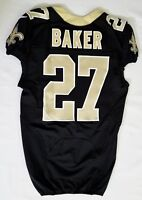 #27 Edwin Baker of New Orleans Saints NFL Locker Room Game Issued Jersey