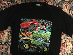 Monster Truck Mania Official T-Shirt Merchandise - Jump Mania - Small - Like New