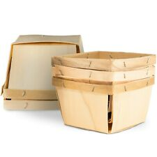 NEW Pint Wooden Berry Baskets (10 Pack)