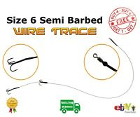 Size 6 Semi Barbed wire Trace - Pike Fishing Bait Rig