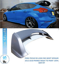 FORD FOCUS RS STYLE 2012-18 MK3 BOOT ROOF SPOILER EXTENSION WING PRIMER OEM FIT