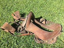"Antique WWI WW1 McClellan US Military 12"" Horse Riding Saddle Model 1904 M1904"