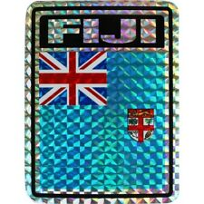 Wholesale Lot 12 Fiji Country Flag Reflective Decal Bumper Sticker