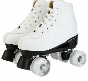 Roller Skates Artificial Leather Double Line Unisex Adult Patines PU 4 Wheels
