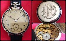 DEÉSSE-pocket watch turned by wrist-vintage mechanical manual-Silver-jumbo-49mm-