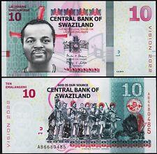 Swaziland 10 Emalangeni 2015, UNC , P-41, Vision 2022
