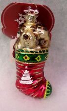 Slavic Treasures Glass Ornament - Canine Christmas (dog)