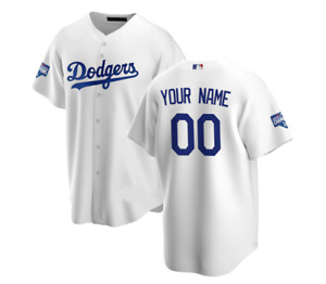 Los Angeles Dodgers Custom Name And Number Jersey White XS-4XL