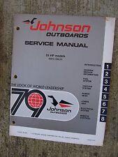 1979 Johnson 55 HP 55E79 55EL79  Outboard Service Manual MORE IN OUR STORE  V