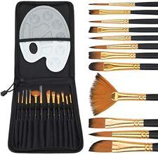12x Pinselset Künstler Malen Ölmalerei Pinsel Set Acryl Feine Aquarell Malpinsel