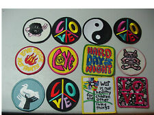 Vintage lot of 12  Peace with love  Embroidered  Iron On Patch  -3