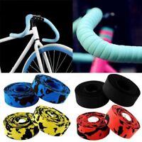 1 Pair Road Bike Handlebar Bar Grip Wrap Ribbon Tape + 2 Bar Plugs Nx