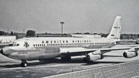 American Airlines Astro Jet Boeing 707 Photo 8×10 Vintage Black and White