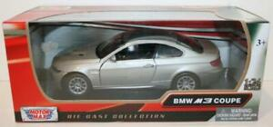 MotorMax 1/24 Scale Metal Model 73347 - BMW M3 Coupe - Silver