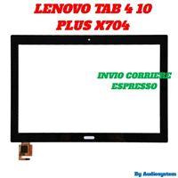 VETRO+TOUCH SCREEN PER LENOVO TAB 4 10 PLUS TB-X704F X704L NERO DISPLAY DIGITIZE
