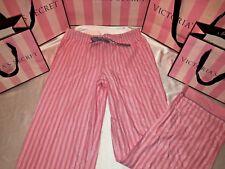 Victorias Secret Flannel Lounge Pajamas Signature Stripe Shimmer Large