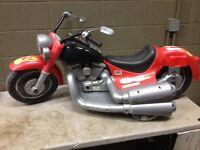 Vintage Power Wheels Red Flame Job Harley Davidson Motorcycle (g100)