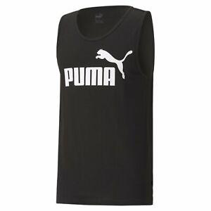 Puma ESSENTIALS TANK TOP. Mens. Black