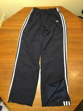 Adidas Mens S Sweat Pants Wind  Soccer Track Mesh Lined Blue Tricot Polyester