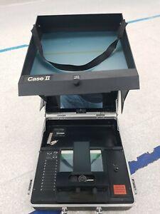 Vintage Microphax Microfiche Case Series  ( CASE II) Magnifier Reader. UNTESTED.