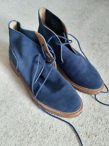 Polo Ralph Lauren Karlyle Blue Suede Shoes Desert Boots Size UK 11