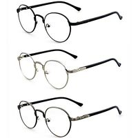 Fashion Hipster Vintage Retro Metal Frame Clear Lens Glasses Nerd Geek Eyewear