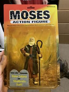 """5.5"""" Moses Action Figure w/ Stone Tablets & Staff - 2003 Accoutrements - NEW"""