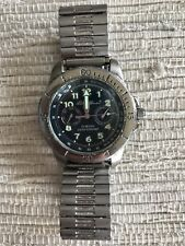 Eddie Bauer Men's Stainless Steel Silver Blue Day Date Quartz Battery Watch