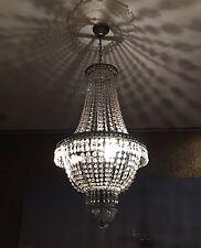 LUSTRE CRISTAL 75cm hauteur korbleuchter Plafonnier Lampe suspendue Lampe NEUF