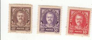 lot 3 timbres Monaco non oblitérés 1933