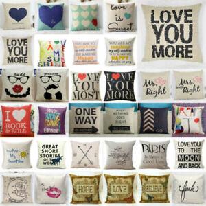 Cotton Linen Square Home Decorative pillowcase  Case Waist  Sofa pillow Cover